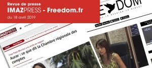 REVUE DE PRESSE : IMAZPRESS – Freedom.fr du 18 avril 2019