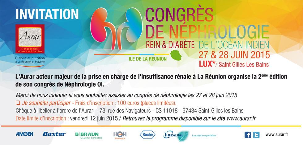 Congrès de Néphrologie, 27 et 28 juin 2015