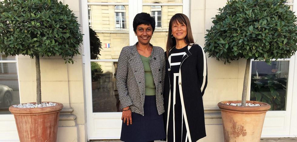 Marie-Rose Won Fah Hin reçue par la ministre des Outre-Mer