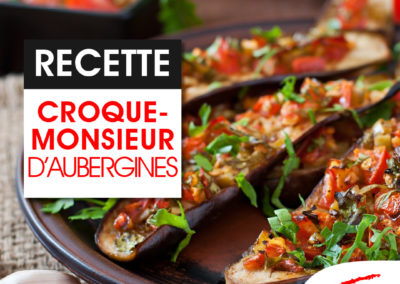 Croque monsieur d'aubergines