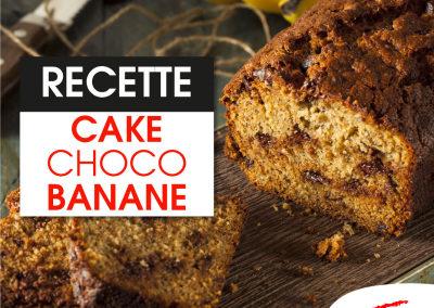 Cake à la banane/ choco