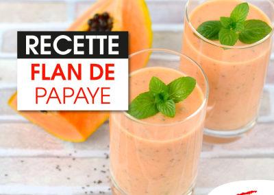 Flan de papaye