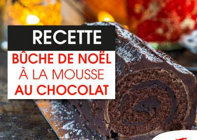 Buche de noël à la mousse de chocolat