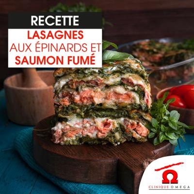 Lasagnes aux épinards et au saumon fumé