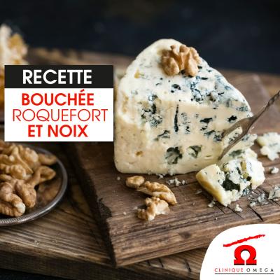 Bouchées au Roquefort et aux noix