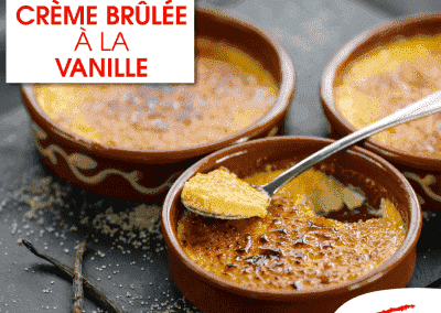 Crème brulée à la vanille