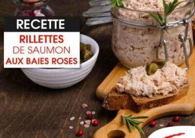 Rillettes de saumon aux baies roses
